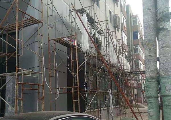 外墙门头改造施工